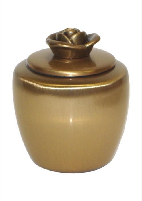 mini urne in blinkend brons P401ROOSBRP