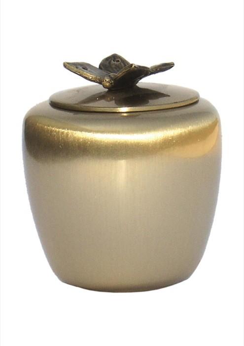 mini urne in mat brons P401VLINDER