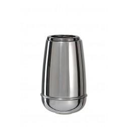 vaas voor columbarium in inox P3334HABL   13 cm