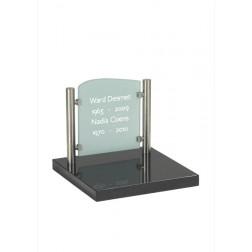 grafzerk urnenveld PUV16 - 31x35cm - Glas