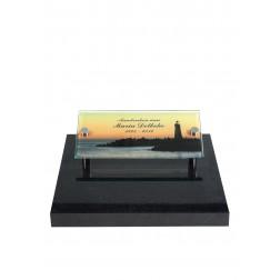 grafzerk urnenveld met foto op glas PUV28 - 40x20cm