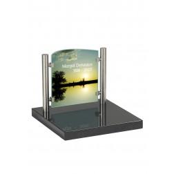 grafzerk urnenveld met foto op glas PUV38 - 31x35cm