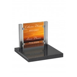 grafzerk urnenveld met foto op glas PUV39 - 31x35cm