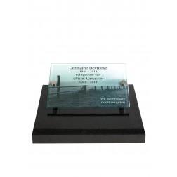 grafzerk urnenveld met foto op glas PUV40 - 40x30cm