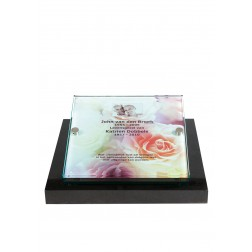 grafzerk urnenveld met foto op glas PUV41 - 40x40cm
