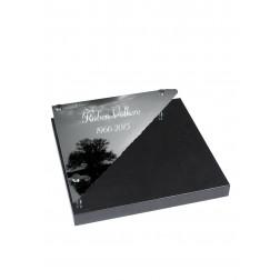 grafzerk urnenveld met foto op glas PUV43 - 50x50cm