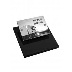 grafzerk urnenveld met lasergravure PUV51 - 40x30 cm