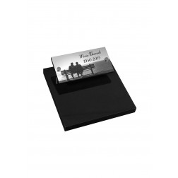 grafzerk urnenveld met lasergravure PUV52 - 40x20 cm