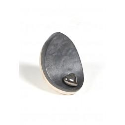 urne precious ceramic artwork UBVDAK-M-1014 | WHITE/BLACK | 20x20x14,5 cm - 1,8 l