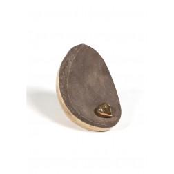 urne precious ceramic artwork UBVDAK-M-26 | GOLDEN-YELLOW | 20x20x14,5 cm - 1,8 l