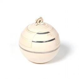 urne precious ceramic artwork UBVCIR-18-11 | ALMOST- WHITE | 18 cm - 2,5 l