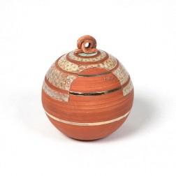 urne precious ceramic artwork UBVCIR-18-17 | BRICK-RED | 18 cm - 2,5 l