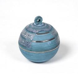 urne precious ceramic artwork UBVCIR-18-18 | ELECTRIC-BLUE | 18 cm - 2,5 l