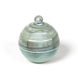 urne precious ceramic artwork UBVCIR-18-19 | SEA-BLUE | 18 cm - 2,5 l