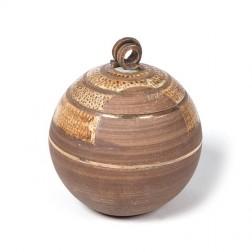 urne precious ceramic artwork UBVCIR-20-16 | BROWN-TURQOISE | 20 cm - 3 l