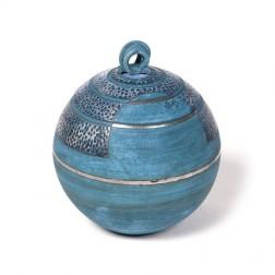 urne precious ceramic artwork UBVCIR-20-18 | ELECTRIC-BLUE | 20 cm - 3 l