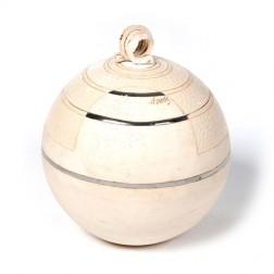 urne precious ceramic artwork UBVCIR-23-11 | ALMOST- WHITE | 23 cm - 4 l