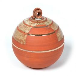 urne precious ceramic artwork UBVCIR-23-17 | BRICK-RED | 23 cm - 4 l