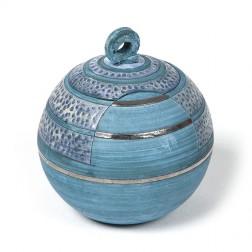 urne precious ceramic artwork UBVCIR-23-19 | SEA-BLUE | 23 cm - 4 l