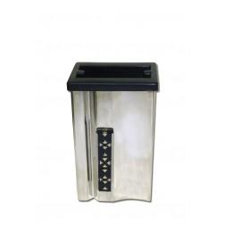 vaas voor columbarium in inox VZ17701   12 cm
