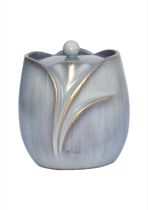 mini urne in grijs-blauw brons P843GRBL