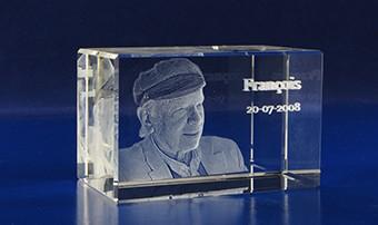 3D foto in glaskristal - balkvorm