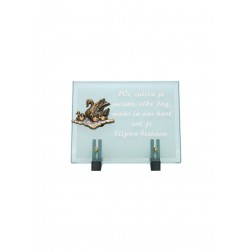 gedenksteen glas A103/B 18x23cm