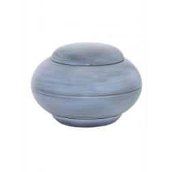 mini urne in grijs-blauw brons P294GRBL