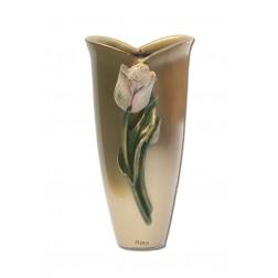 vaas voor columbarium in brons P346TULP   13 cm