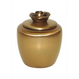 mini urne in mat brons P401ROOSBRM