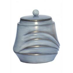 mini urne in grijs-blauw brons P605GRBL