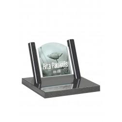 grafzerk urnenveld met foto op glas PUV42 - 31x35cm