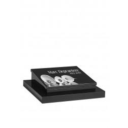 grafzerk urnenveld met lasergravure PUV45 - 40x40x5,5/10 cm