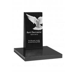 grafzerk urnenveld met lasergravure PUV46 - 25x50x5/10 cm