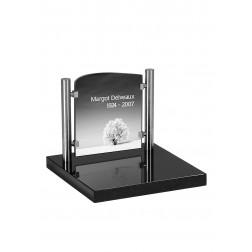 grafzerk urnenveld met lasergravure PUV47 - 31x35 cm