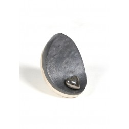 urne precious ceramic artwork UBVDAK-M-1014   WHITE/BLACK   20x20x14,5 cm - 1,8 l