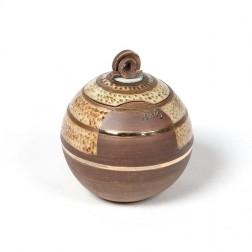 urne precious ceramic artwork UBVCIR-18-16   BROWN-TURQOISE    18 cm - 2,5 l