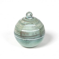 urne precious ceramic artwork UBVCIR-18-19   SEA-BLUE    18 cm - 2,5 l