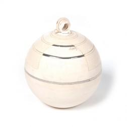 urne precious ceramic artwork UBVCIR-20-11   ALMOST- WHITE    20 cm - 3 l