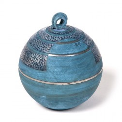 urne precious ceramic artwork UBVCIR-23-18   ELECTRIC-BLUE    23 cm - 4 l